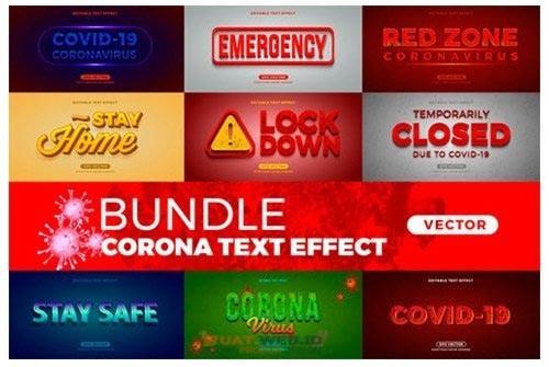Bundle Corona Virus Teks Efect Gratis